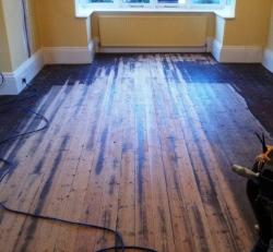 Pine floor board sanding Lancashire