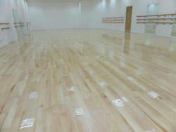 Restored wood floor Wigan